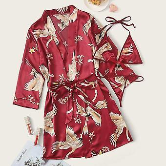 Dlouhý rukáv Dámské pyžamo Sexy krajka spodní prádlo noční prádlo spodní prádlo sleepwear oblek