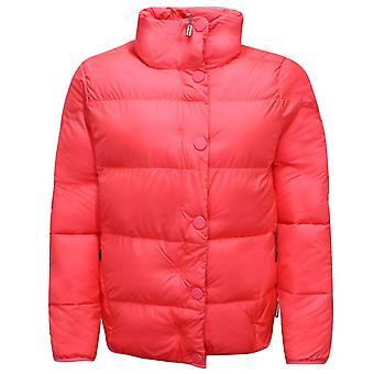Hunter Original Womens Puffer Jacket Hooded Coat Neon Pink WRO1245WAZ HYP