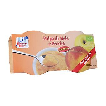 Apple and peach pulp 200 g