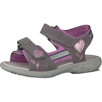 RICOSTA Gris sandale avec garniture rose