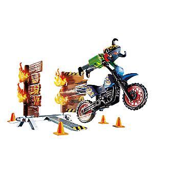 Playmobil Stunt Show Motocross med eldig vägg