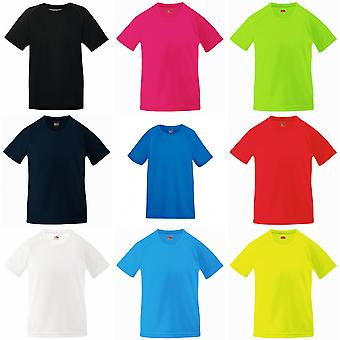Fruit Of The Loom Kinder Unisex Performance Sportswear T-Shirt