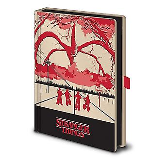 Stranger Things Mind Flayer lyser upp A5 Notebook