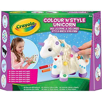 Kit artesanal de unicornio estilo Crayola color n con plumas para colorear punta de fieltro lavable