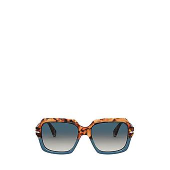 Persol PO0581S brown tortoise & opal blue unisex sunglasses