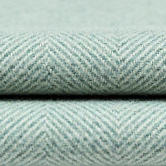 Mcalister textiles herringbone canard oeuf échantillon de tissu bleu