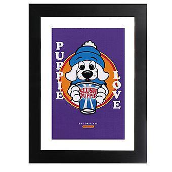 Slush Puppie Love Cartoon Framed Print