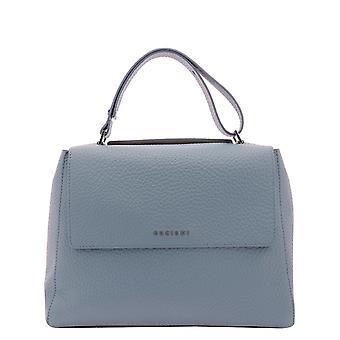 Orciani Bt2006softortensia Women's Light Blue Leather Handbag