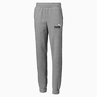 Puma Essential 2 Colour Logo Kids Sweat Track Pant Trouser Grey