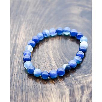 Blue Agate Yoga Bracelet For Crystal Healing & Meditation
