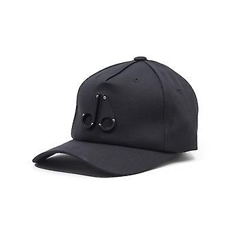 Moose Knuckles Space Age Shiny Logo Cap - Black