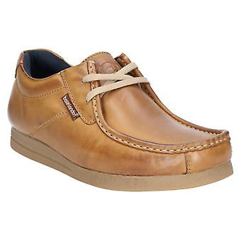 Base Event Mens Leather Formal Shoes Tan UK Size