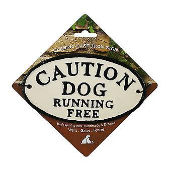 Paras lemmikki varovaisuutta ilmainen valurauta merkki juokseva koira