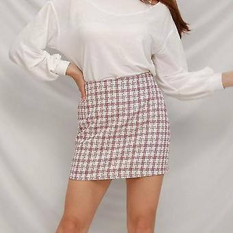 Plaid Gonna donna A-line Slim High Waist Mini Skirt High Street