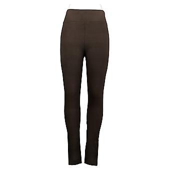 LOGO by Lori Goldstein Women's Leggings Reg Knit Brown A260143