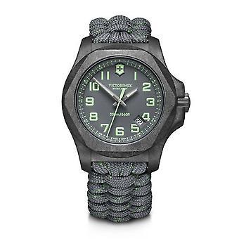 Victorinox Swiss Army 241861 I.n.o.x. Carbon Grey Paracord Watch Set