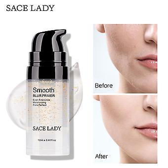 Gold foil makeup primer smooths pores and fine lines skin moisturizing 6ml
