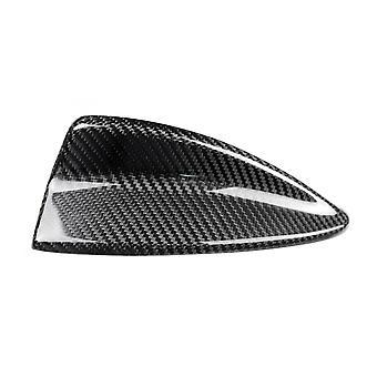 Antena de fibra de carbono cobre barbatana de tubarão aparar acessórios de estilo de carro de tampa decorativa para bmw