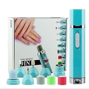 Electric Manicure Pedicure Tool, Rechargeable Nail Buffer And Polisher, Easily File