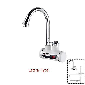 Instant tankless electric water heater kitchen heating tap faucet with led