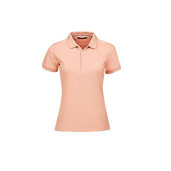 Dublin Lily Womens Cap Sleeve Polo Shirt - Salmon Orange