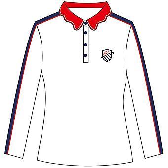 Golf ženy nosiť oblek s dlhým rukávom tričko, polovičná dĺžka sukne nohavice