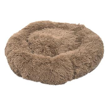 Pet Dog Cat Calming Bed Warm Soft Plush Round