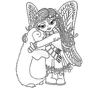 Polkadoodles Timbre clair - Angel Hugs A6