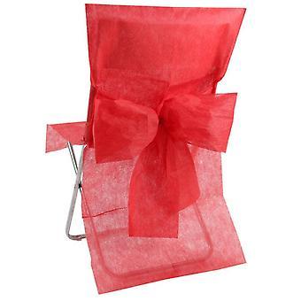 10 Housses de chaise Premium rouge 50 x 95 cm