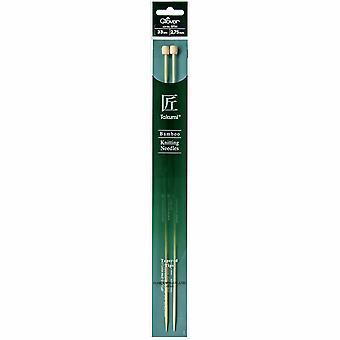 Pasadores de tejido de trébol: de un solo fin: Takumi Bambú: 33cm x 2.75mm