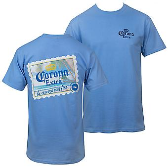Corona Extra Beach Postcard Front and Back Print T-Shirt