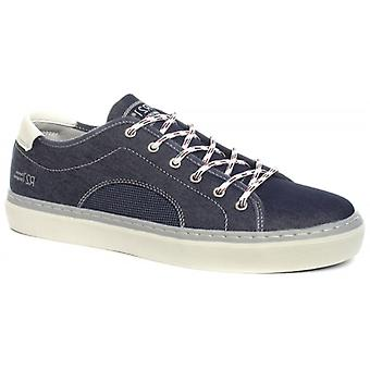 Route 21 Gene Mens Denim Lace Up Casual Shoes Navy