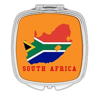 Lahja kompakti peili: Etelä-Afrikan MAP Lippu Afrikkalainen
