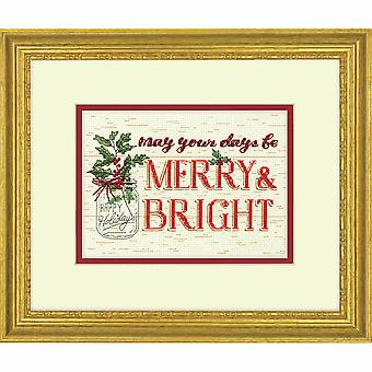 Dimensions Counted Cross Stitch Kit: Merry & Bright