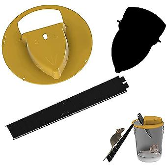 Flip N Slide Bucket Tapa Ratón Rata Trampa Trampa De Ratón Segura Catcher (1Pack)