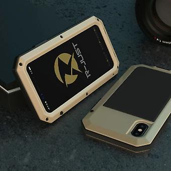 Вещи Сертифицированные® iPhone 12 360 - Полное тело Дело Танк Дело - Протектор экрана - Шоконепроницаемая обложка Золото