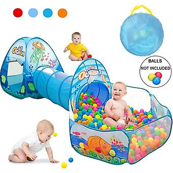 Children Baby Play House Tent Tunnel Ball Pool Pop Up Kids Indoor Outdoor Toys (Balls NOT Include)