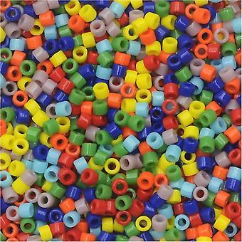 Perline di semi Miyuki Delica, taglia 11/0, mix arcobaleno opaco #DB-MIX37, tubo da 7,2 grammi