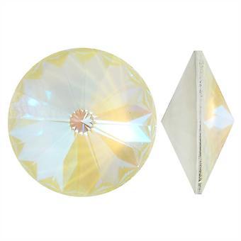 Swarovski Crystal, #1122 Rivoli Fancy Stones 14mm, 2 kappaletta, Kristalli Vaaleanharmaa DeLite