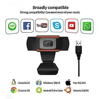 High definition Autofocus Computer USB Camera voor Pc Laptop Desktop 1080P Webcam PC Gebouwd (1080p)