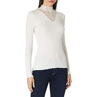 TOM TAILOR Denim Materialmix T-Shirt, 10332-White, S Woman