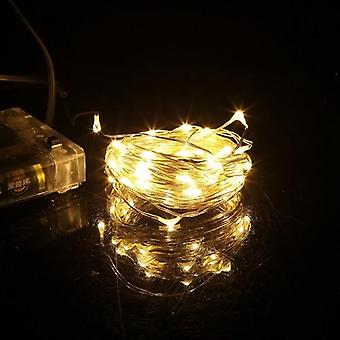 Silver Copper Wire Waterproof Fairy Led Christmas String Light