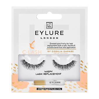 Eylure False Eyelashes - C-lash - Wispy Lash Replacement (adhesive Included (1ml)