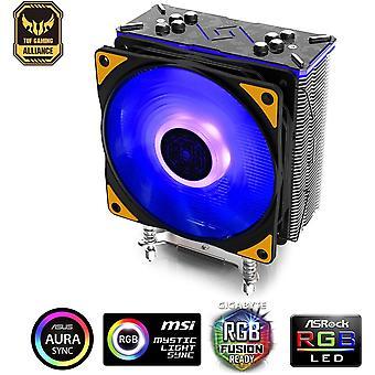 Gammaxx GT TGA CPU-Kühler für Intel und Amd, 4 Heatpipes, 120 mm PWM RGB-Lüfter, AM4 und Ryzen,