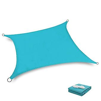 2*2M blue waterproof sun shade sail canopy uv resistant for outdoor patio x4833
