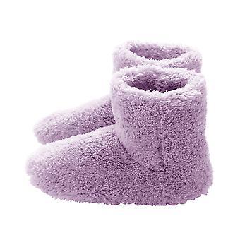 Zapatos de pie de calentador USB de invierno, zapatillas eléctricas calientes de felpa