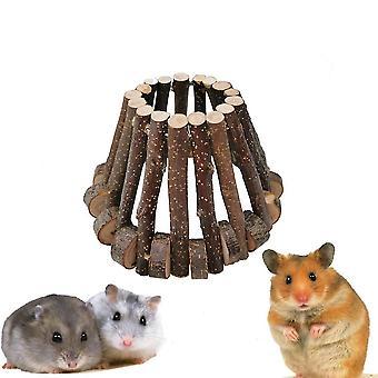 Hamster Wooden Nest Gold Bear Avoid House Wooden House Villa Pet Molar Bite Toy
