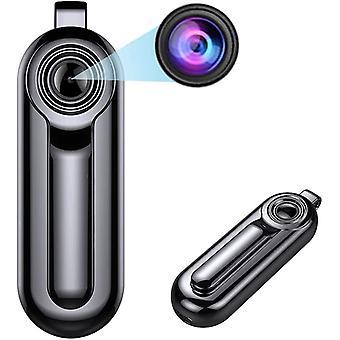 كاميرا مراقبة مصغرة محمولة 1080P HD كاميرا تجسس, كاميرا مراقبة الأمن المضغوط المخفية كاميرا مربية صغيرة مع الصوت / تسجيل فيديو كاميرا صغيرة 8GB (أسود)