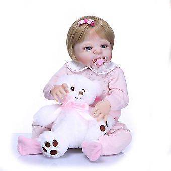 Teljes test szilikon vinil imádnivaló élethű kisgyermek baby bonecas lány gyerek bebes újjászületett babák bebes újjászületett élő baba lány játék