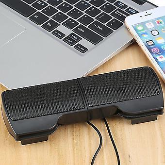 Neuer tragbarer Mini-USB-Stereo-Lautsprecher für Notebook-Laptop-PC mit Clip Schwarz